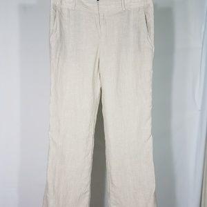 off white linen slacks pants lined size 10